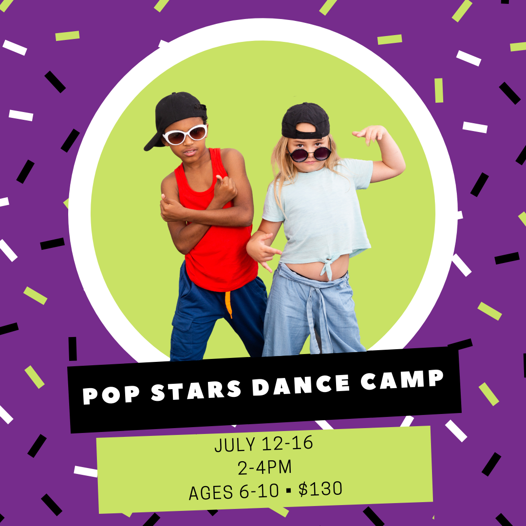 Calling all boys and girls! Do you like to dance? Join us for all the fun in this high energy hip hop/pop stars dance camp and learn to dance like your favorite pop star! Participate in fun warm ups, across the floor combos and exercises, and learn several choreographed dance routines to your favorite hit songs to perform for family on the last day of camp!
